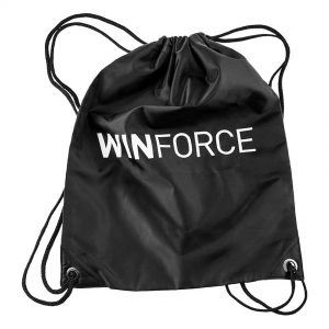 Winforce Sportbag 11 liter. Svart med Winforce logotype i vitt.